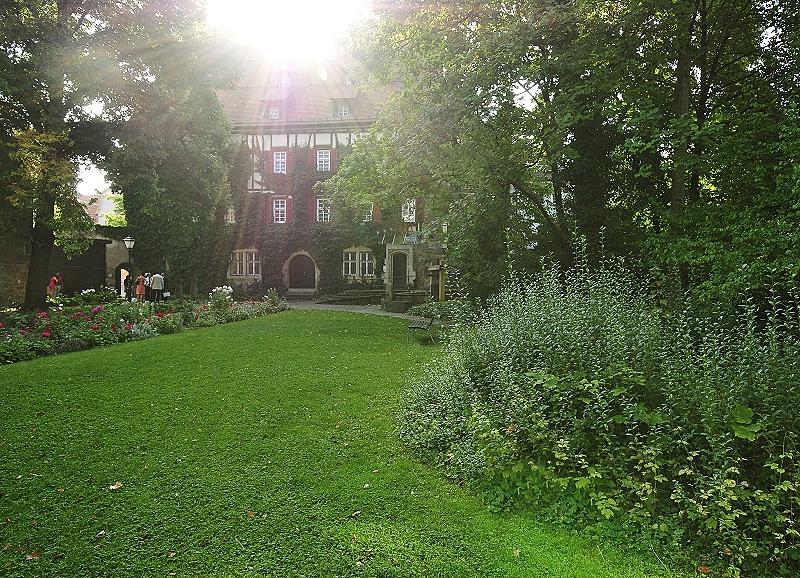 Blick in den Garten des Heimatmuseums