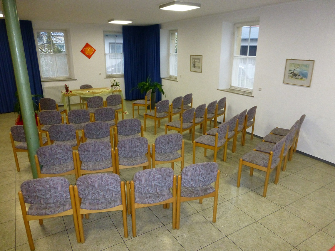 Blick in den Sitzungssaal des Bezirksamts Sickenhausen