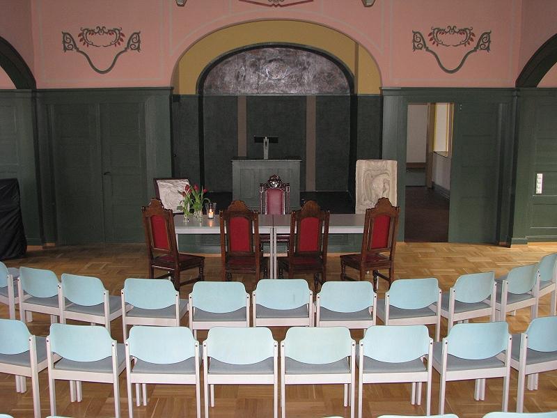 Blick in das Trauzimmer (Bürgersaal) des Bezirksamts Gönningen