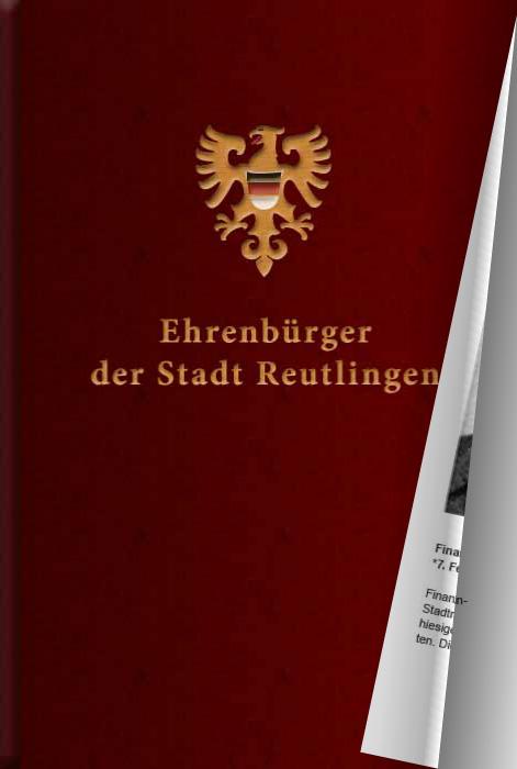 Ehrenbürger der Stadt Reutlingen