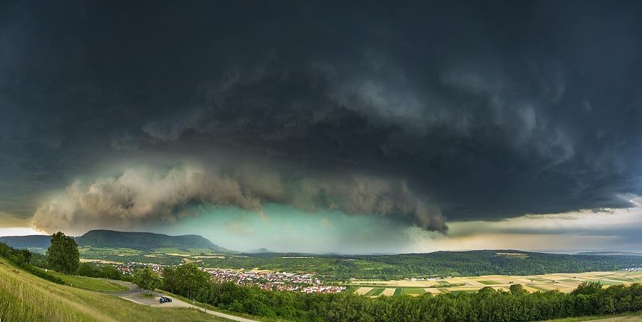 Gewitterwolke über Reutlingen vom 28. Juli 2014 - Foto Bastian Werner