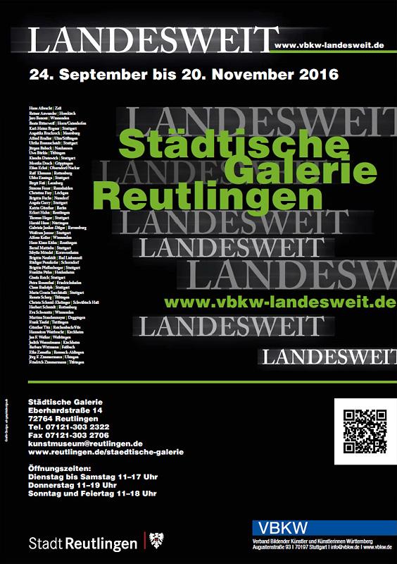 Ausstellungsplakat - LANDESWEIT VBKW Verband Bildender Künstler und Künstlerinnen Württemberg