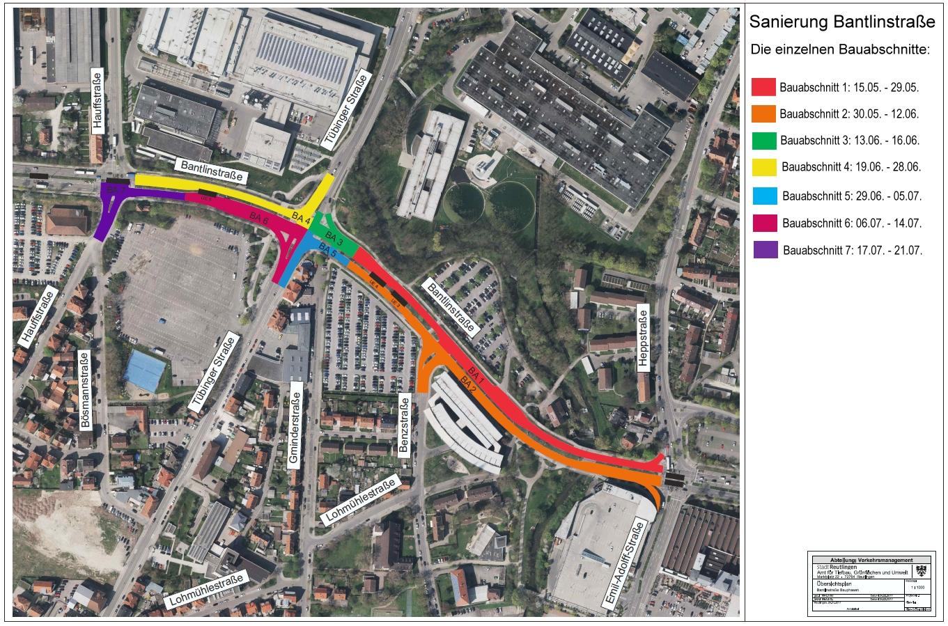 Sanierung der Bantlinstraße - Bauabschnitte 1 bis 7