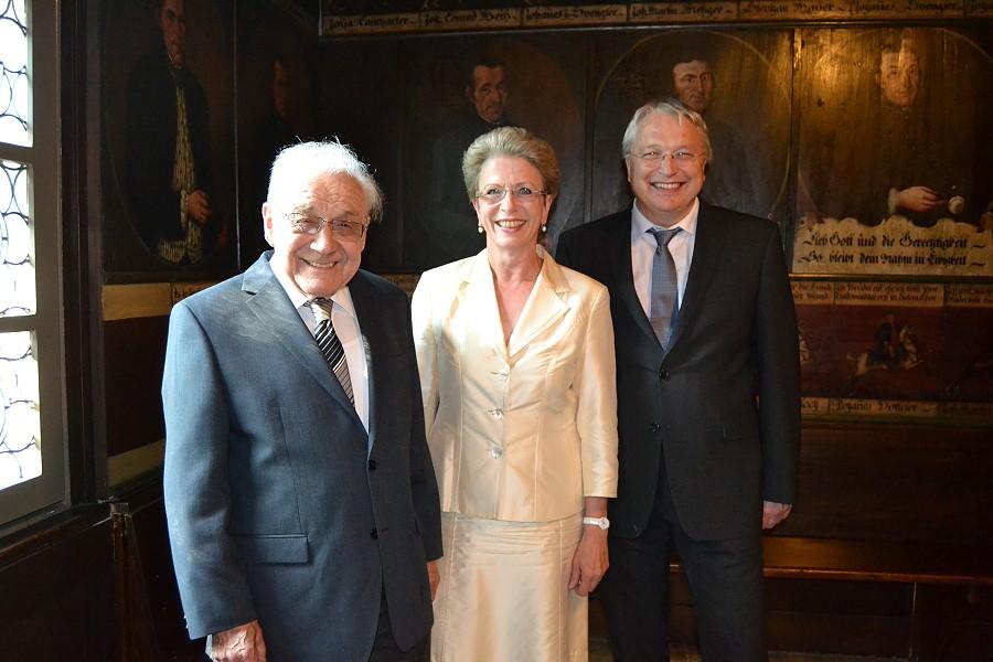 Albert Schuler, Oberbürgermeisterin Barbara Bosch und Bürgermeister Robert Hahn