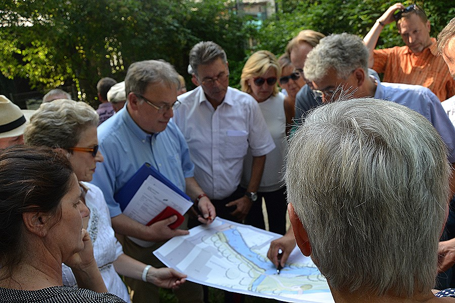 Die Pläne für die Retentionsfläche im Goasgarda stießen auf großes Interesse