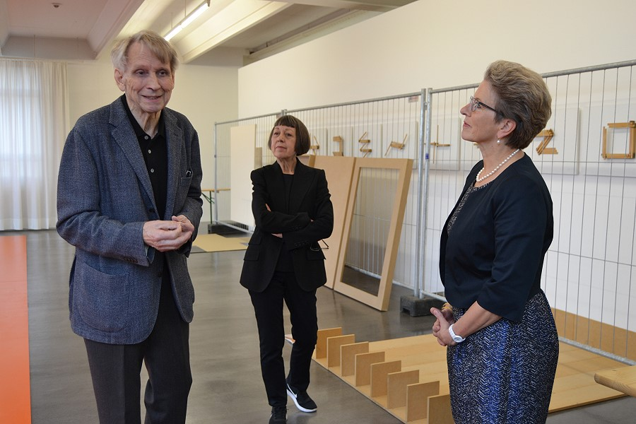 Manfred Wandel, Gabriele Kübler und Oberbürgermeisterin Barbara Bosch