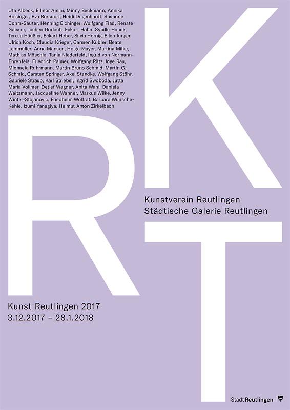 Kunst Reutlingen 2017 - Ausstellungsplakat