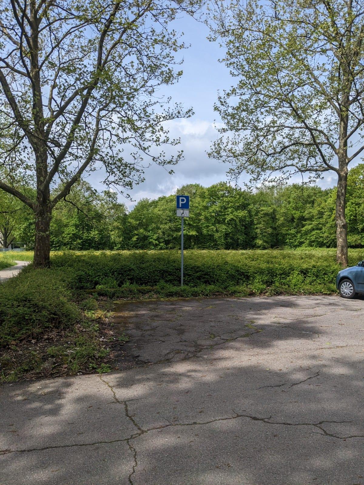 6 Behindertenparkplätze beim Friedhof Römerschanze