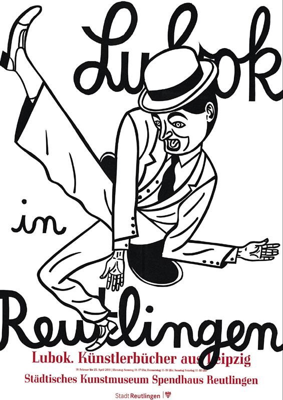 Ausstellungsplakat Lubok Künstlerbücher aus Leipzig