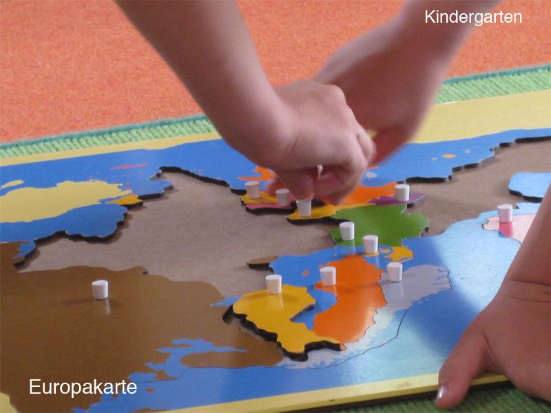 Kindergarten - Europakarte