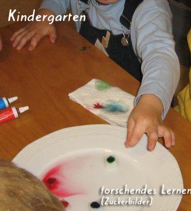 Kindergarten - forschendes Lernen (Zuckerbilder)