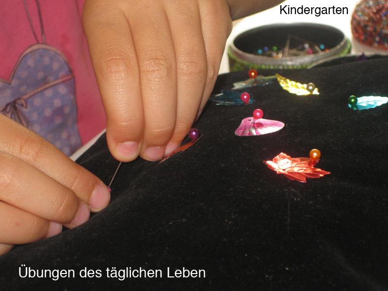 Kindergarten - Übungen des täglichen Lebens