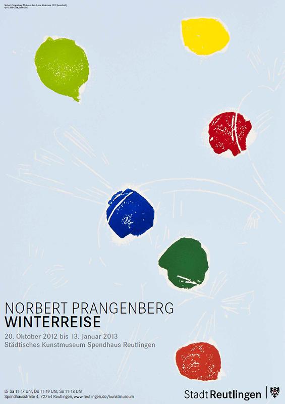 Ausstellungsplakat Norbert Prangenberg. Winterreise.