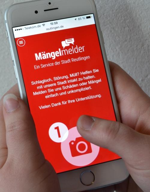 Der neue Online-Schadensmelder auf www.reutlingen.de
