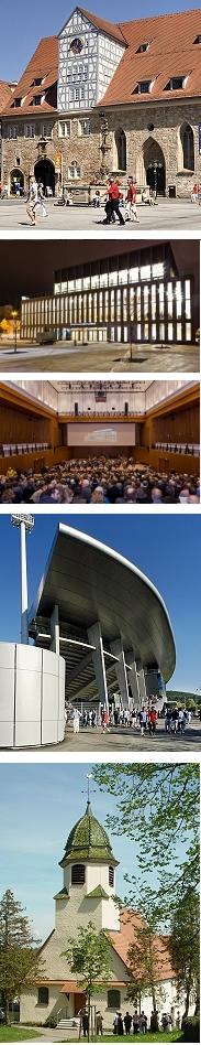 Veranstaltungsräume in Reutlingen: Spitalhof, Sadthalle, Kreuzeiche-Stadtion, Stephanus-Kirche