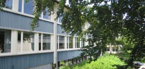 Blick vom oberen Schulhof