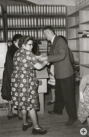 Auszug aus den bisherigen Verwaltungsräumen im Frühjahr 1966