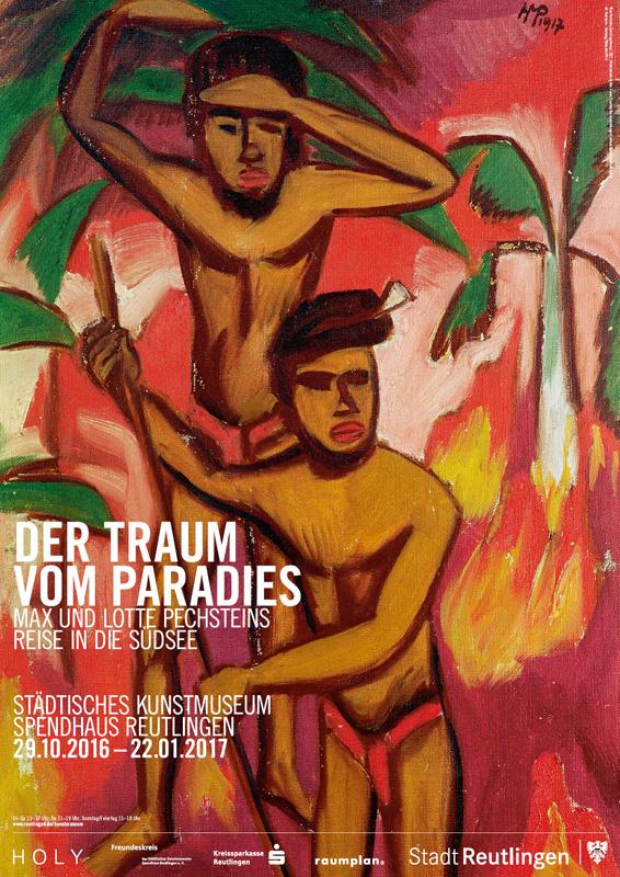 Ausstellungsplakat - Max Pechstein. Der Traum vom Paradies