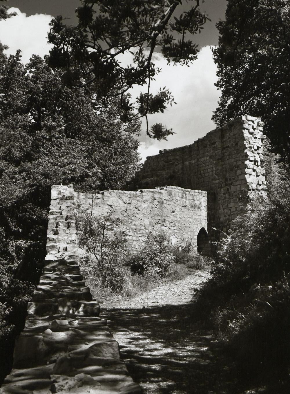 Blick nach Norden über die Torgasse (Zwinger) im Zustand des Jahres 1973 nach der rundlegenden Restaurierung der Mauern (Aufnahme von M. Hell).