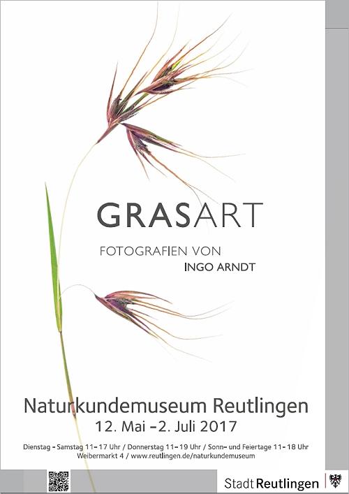 "Plakat zur Ausstellung ""Grasart"""
