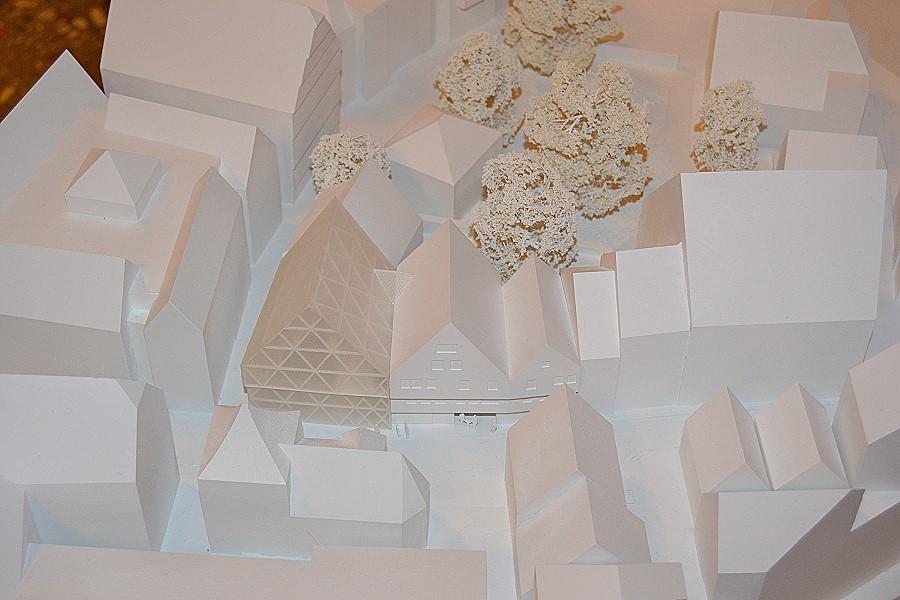 Der Siegerentwurf besticht durch einen Neubau mit gläserner Fassade