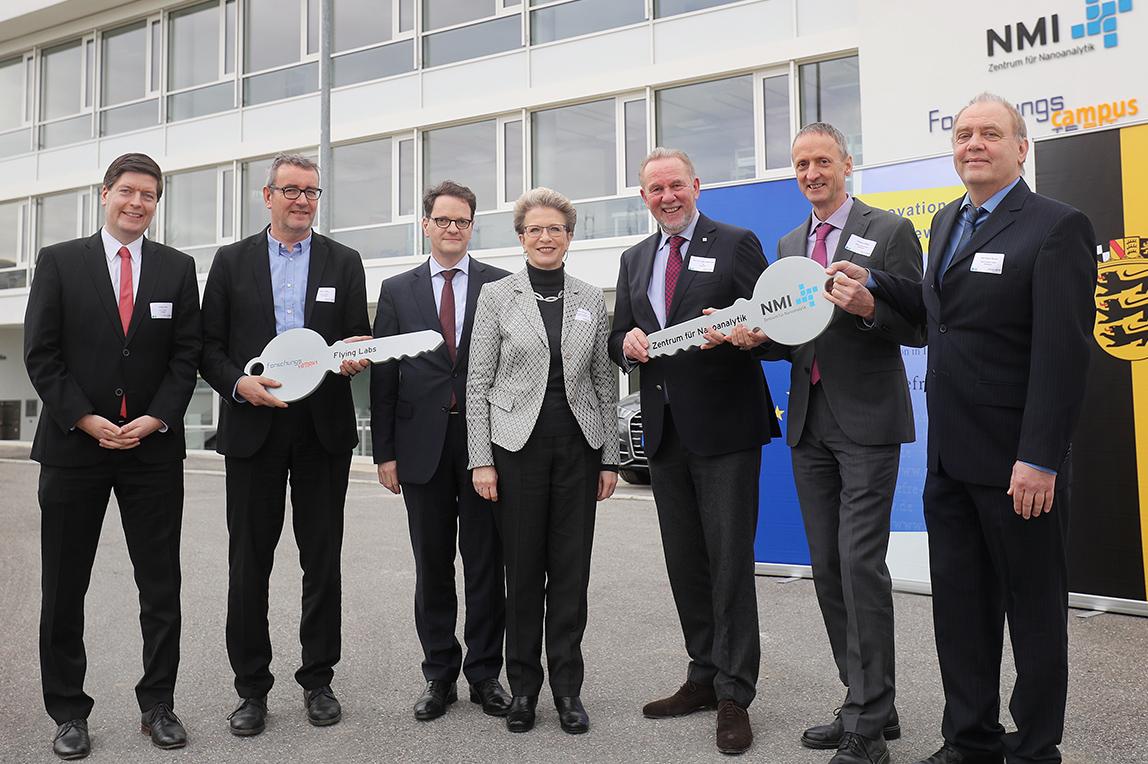 v.l.n.r.: Thorsten Flink, Peter Wilke, Michael Kleiner, Oberbürgermeisterin Barbara Bosch, Prof. Dr. Hugo Hämmerle, Andreas Möller, Karl-Heinz Boven