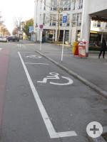 2 Behindertenparkplätze in der Kaiserstraße 55