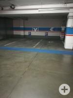 2 Behindertenparkplätze in der Tiefgarage Volksbank