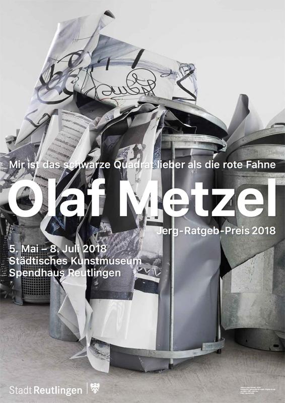 Ausstellungsplakat - Olaf Metzel