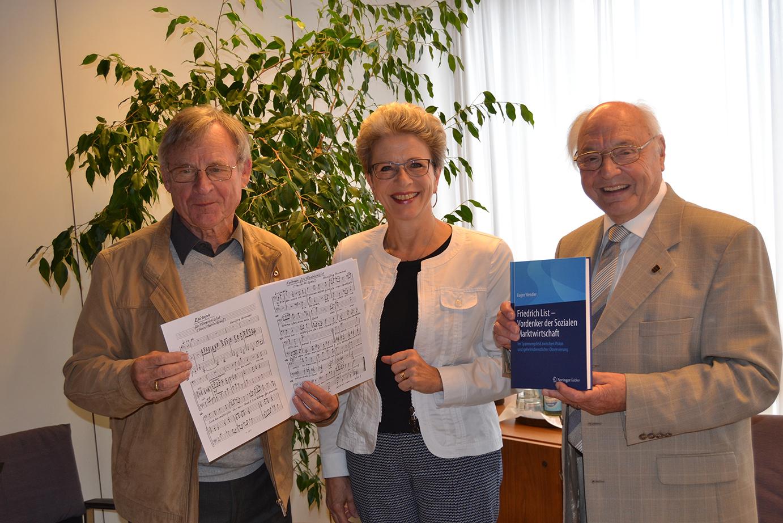 Hansjörg Hummel, Barbara Bosch und Prof. Dr. Eugen Wendler
