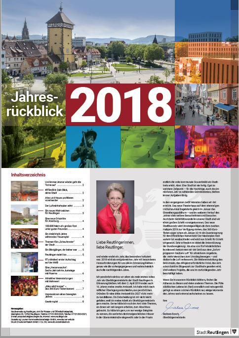 Das Titelblatt des Jahresrückblicks