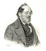 Friedrich List (1789 - 1846) - Lithographie von 1845