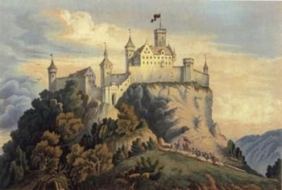 Burg Achalm Rekonstruktion 1856