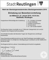 Einladung zur Bewerbervorstellung OB-Wahl