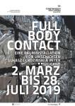 Plakat: full body contact. Eine Rauminstallation von umschichten