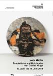 Ausstellungsplakat - Gustav Kluge - Rote Watte