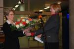 Erste Bürgermeisterin Ulrike Hotz gratuliert Oberbürgermeisterin Barbara Bosch