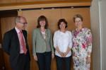 Von links nach rechts: Uwe Weber, Anke Bächtiger, Dr. Ursula Weber und Oberbürgermeisterin Barbara Bosch
