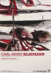 Ausstellungsplakat - Carl-Heinz Kliemann. Farbige Landschaften. Holzschnitte aus sieben Jahrzehnten