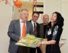 """von links nach rechts: Bürgermeister Robert Hahn, Stadtrat Jürgen Fuchs, Stadtrat Dr. Lutz Binder und """"Denk mit""""- Geschäftsführerin Karin Bader; Foto: Uschi Pacher"""