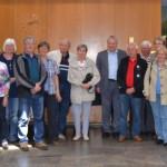 Bürgermeister Robert Hahn mit den Gästen aus Pirna