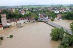 Hochwasser des Neckars in Mittelstadt