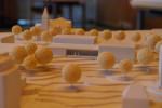 Das Model des Siegerentwurfs von der h.s.d. Planungsgemeinschaft - Zu sehen ist die Seite des Gebäudes mit der Stadtloggia, die einen Blick auf die Altstadt und die Stadthalle erlaubt