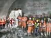 Tunnelpatin Barbara Bosch verfolgt den Durchbruch beim Scheibengipfeltunnel. (Foto: Horst Haas)