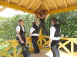 Einweihung der Pavillons im Rosengarten