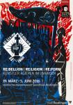 Ausstellungsplakat - RE:bellion / RE:ligion / RE:form