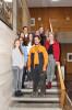 Oberbürgermeisterin Barbara Bosch mit den Auszubildenden, die am Azubi-Volunteering teilgenommen haben.