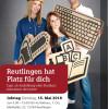 Ausbildungsmesse am Dienstag, 15. Mai 2018 von 9 bis 15 Uhr im Reutlinger Rathaus