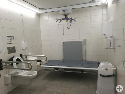 Das Bild zeigt die Toilette für Alle im Rathaus.