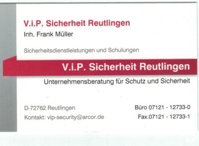 V.I.P. Sicherheit Reutlingen